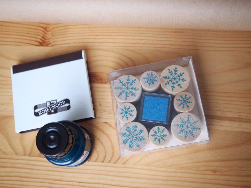 Tipy na balení vánočních dárků, razítkování, vánoční razítka, Vánoce 2017