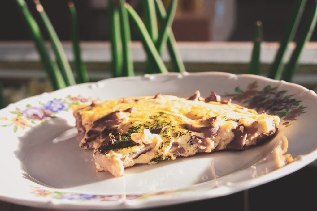 Omeleta s hlívou a Indiánskými vejci OVUS.