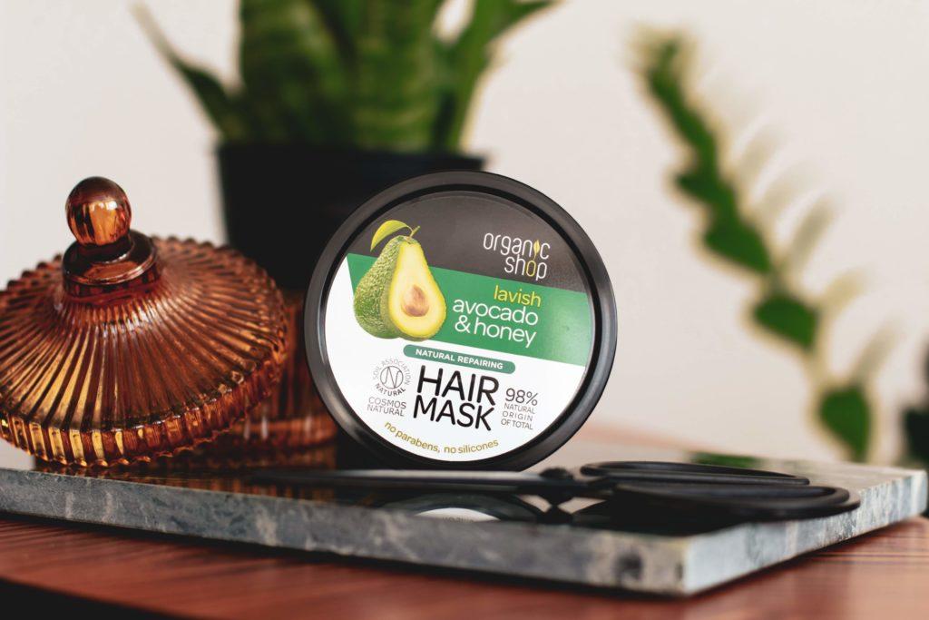 Recenze Organic Shop vlasové řady Lavish Avocado & Honey se šamponem, kondicionérem a maskou.