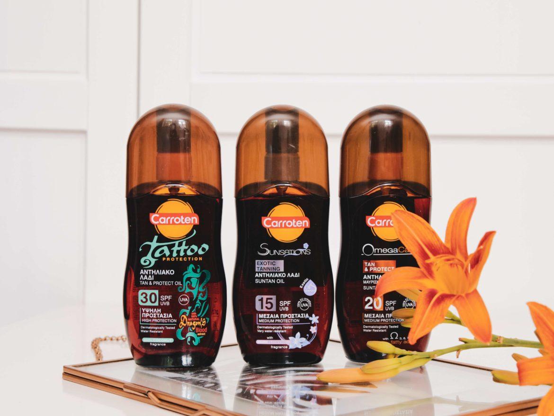 Recenze olejů na opalování Carroten.