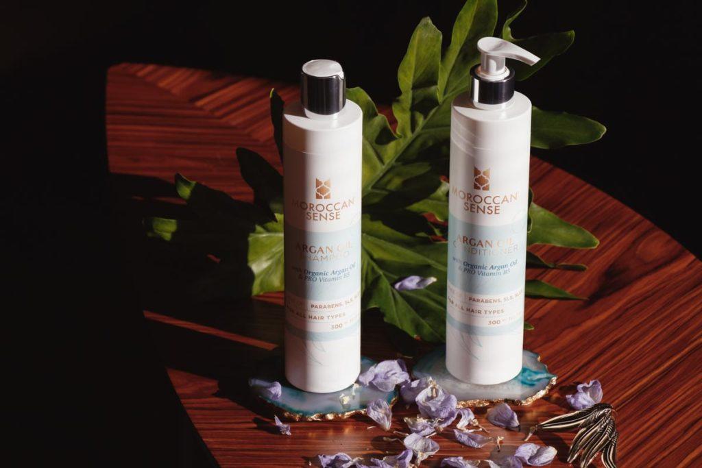 Recenze šampónu a kondicionéru Moroccan Sense.