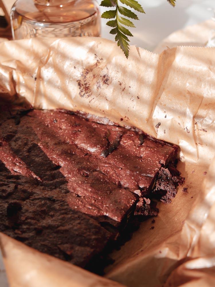 Recept na bezlepkové brownies podle Kateřiny se 70% čokoládou.
