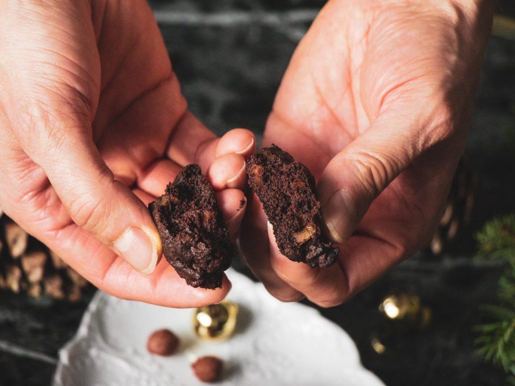 Vánoční čokoládové sušenky bez lepku - recept.