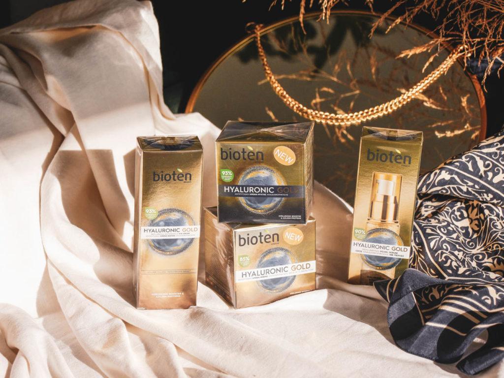 Recenze kosmetické péče pro zralou pleť Bioten Hyaluronic Gold.
