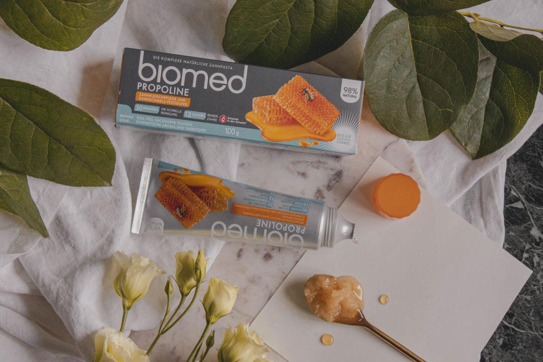Recenze zubní pasty Biomed Propoline s medem a propolisem.