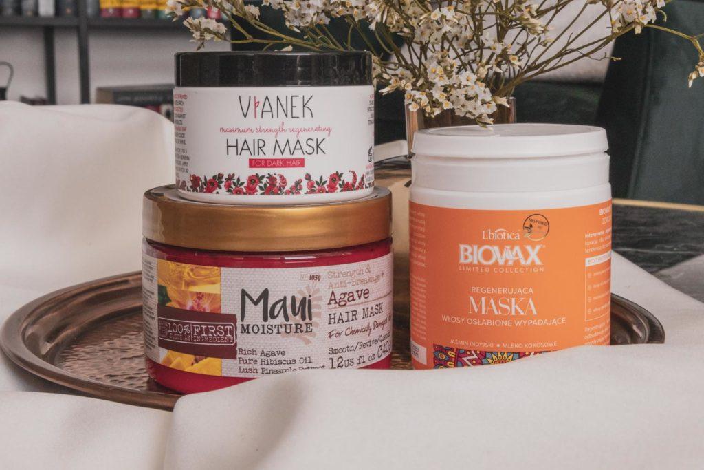 Kosmetický souboj: Recenze na masky na vlasy Maui Moisture Agave, Vianek a Biovax od L´Biotica.